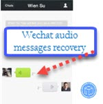 wechat audio messages recovery