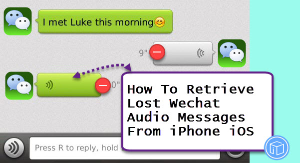 find missing wechat audio messages